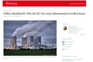 Vorwärts Artikel Klimagesetz