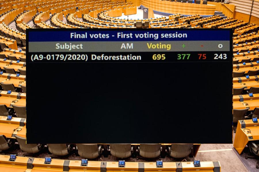 Abstimmungsergebnis entwaldungsfreie Lieferketten