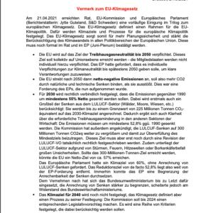 Vermerk zum EU-Klimagesetz